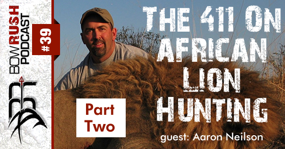 BR039 – The 411 On African Lion Hunting with Aaron Neilson [ Part 2 ]